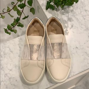 Gorgeous leather slip-on sneakers!!!  NWOT